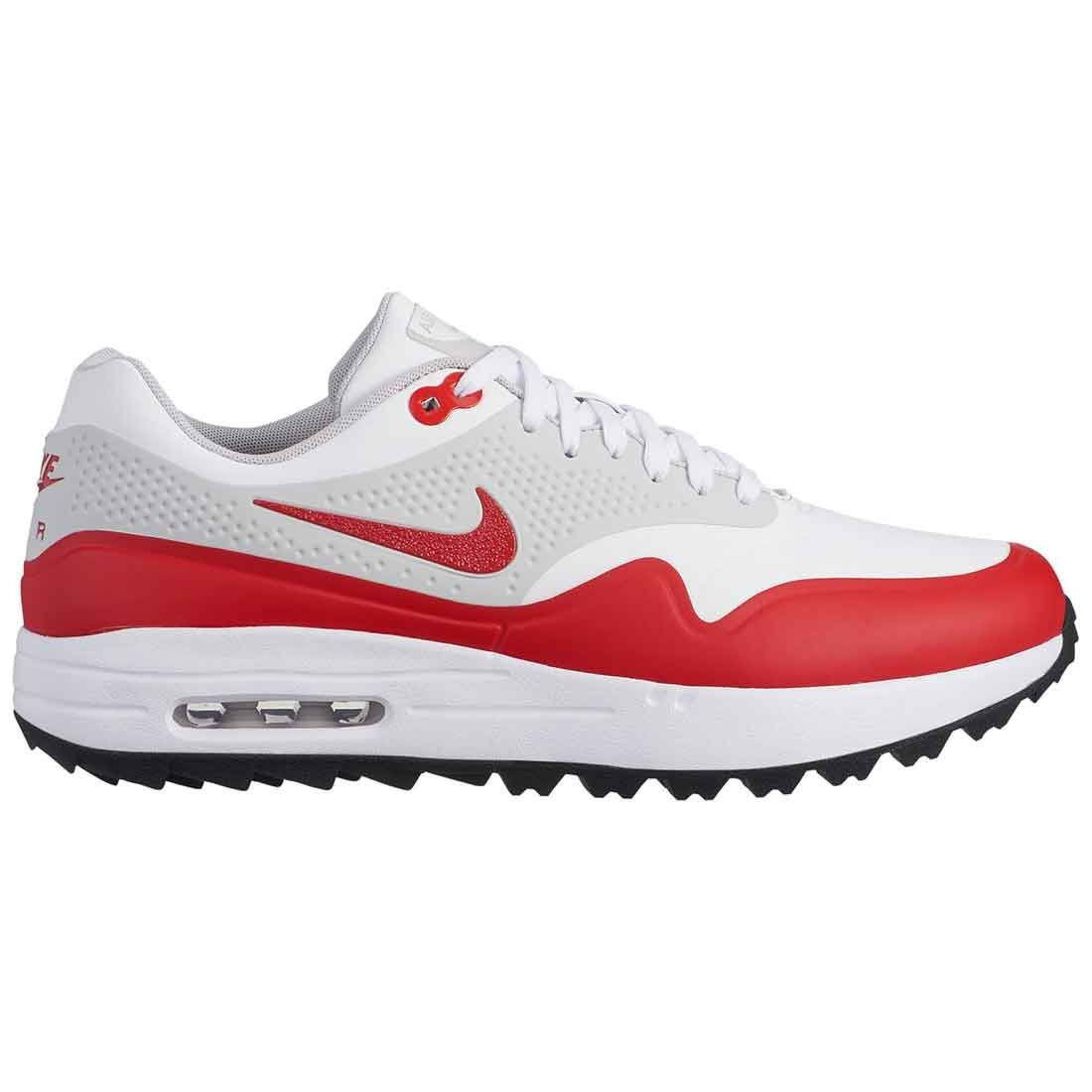 Buy Nike Air Max 1 G Golf Shoes White/University Red   Golf Discount