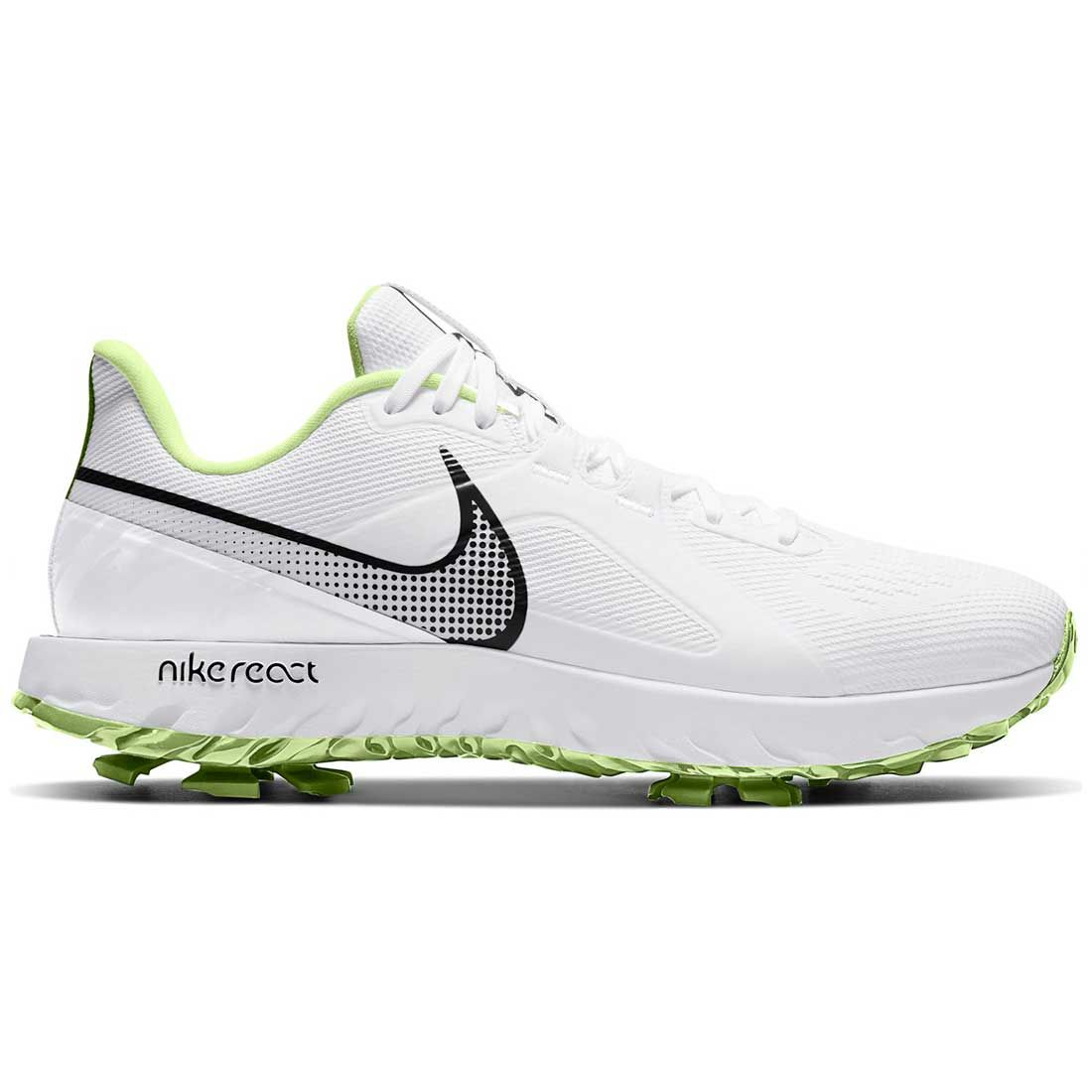 Nike React Infinity Pro Golf Shoes White/Black/Barely Volt