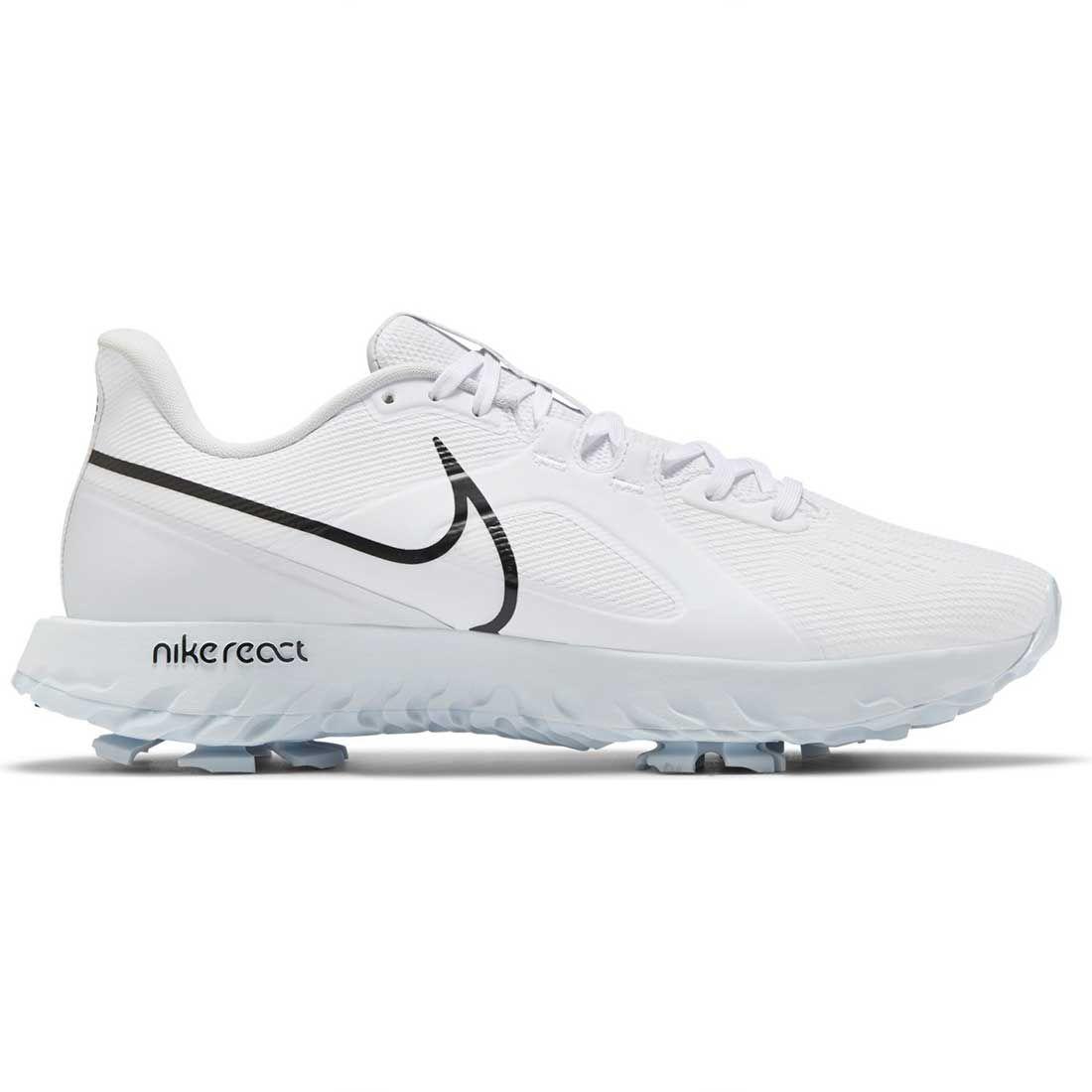 Nike React Infinity Pro Golf Shoes White/Black/Metallic