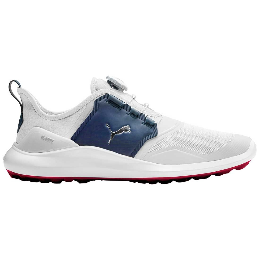 Buy Puma Ignite Nxt Disc Golf Shoes White Silver Peacoat Golf Discount