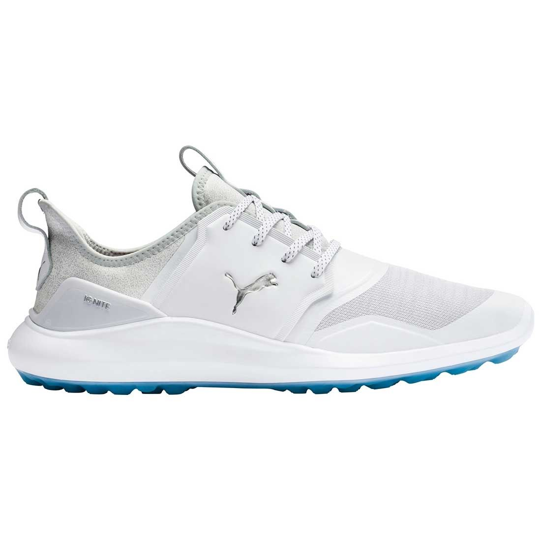 Buy Puma Ignite Nxt Golf Shoes White Silver High Rise Golf Discount