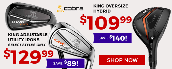 Cobra King Adjustable Utility Irons and Oversize Hybrid Sale at Golf Discount