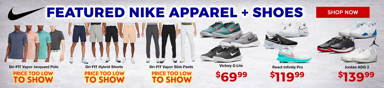 Featured Nike Apparel and Shoes at GolfDiscount.com