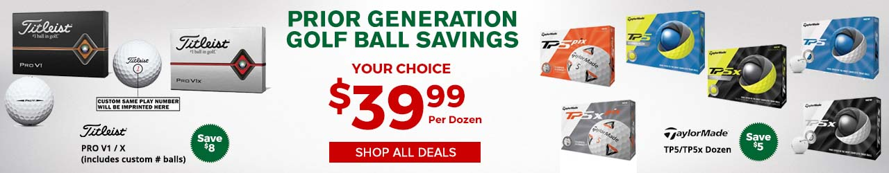 Prior Generation Titleist and TaylorMade Golf Balls at GolfDiscount.com