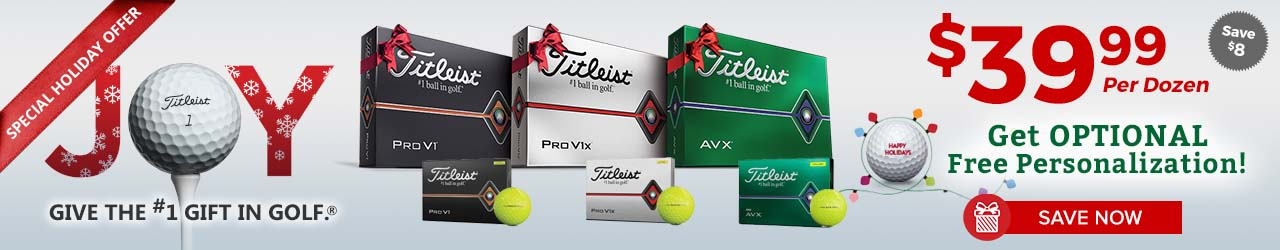 Special Holiday Offer on Titleist Golf Balls at GolfDiscount.com