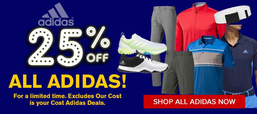 25% off Adidas Golf Apparel at Golf Discount