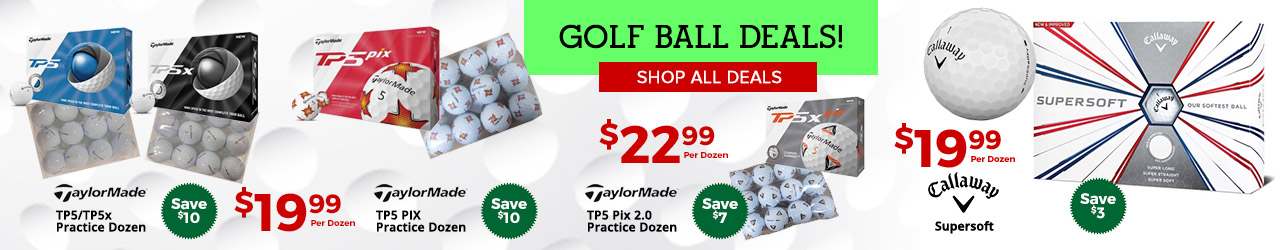 Featured Callaway and TaylorMade Golf Balls at GolfDiscount.com