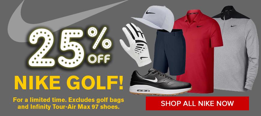 25% off Nike Golf Apparel at Golf Discount