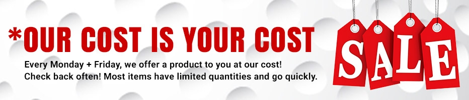 Our Cost is your Cost at Golf Discount