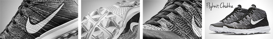 New Nike Flyknit Chukka Golf Shoe- Strong, Lightweight, Natural Movement.