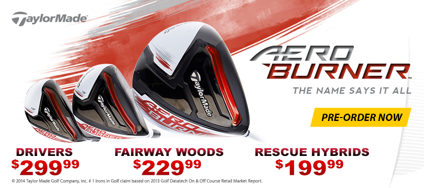 TaylorMade Aeroburner pre-order now!