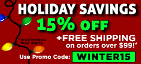 Holiday Savings 15% off!